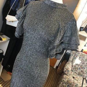 Silver fashion nova dress